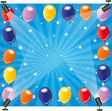 Balloon frame with spotlights Royalty Free Stock Photography