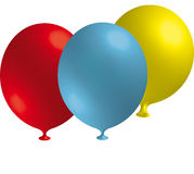 Balloon in front of a neutral ground Stock Photo