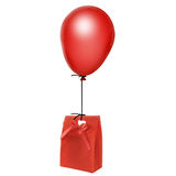 Balloon and gift Royalty Free Stock Images