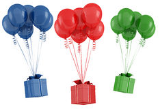 Balloon and gift box Royalty Free Stock Photos