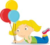 Balloon girl Royalty Free Stock Image