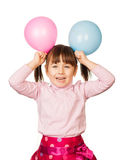 Balloon girl stock photo