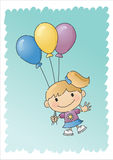 Balloon Girl - Hand-drawn Stock Images