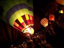 Balloon Glow 1. Balloon festival in plano texas Royalty Free Stock Photography