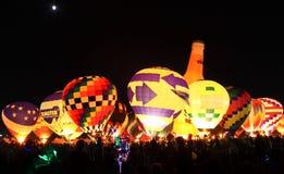 BALLOON GLOW-2010. Balloon glow at great forest park balloon race in 2010 Stock Photos