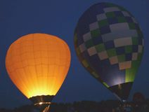 Balloon Glow. Balloon's lighting up the night stock photo