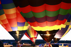 Balloon Glow. With four Hot Air Balloons Royalty Free Stock Image