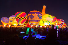 Balloon Glow with light sabre. Balloon glow in Forest Park, St. Louis, with children waving light sabres Stock Image
