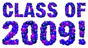 Balloon graduation sign - 2009. CLASS OF 2009 spelled out in vector balloons Royalty Free Stock Image
