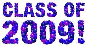 Balloon graduation sign - 2009 Royalty Free Stock Image