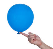 Balloon in hand Stock Photo
