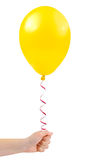 Balloon in hand Stock Image