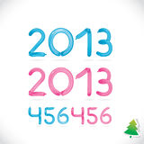 Balloon Happy New Year Date Royalty Free Stock Image