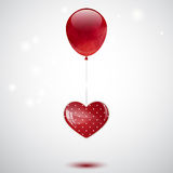 Balloon and heart Stock Photography