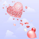 Balloon heart Royalty Free Stock Photos