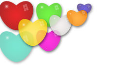 Balloon heart background Royalty Free Stock Photo