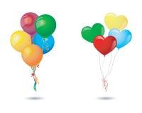 Balloon and heart balloon Stock Photography