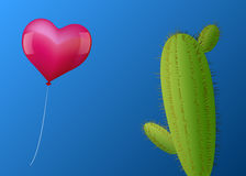 Balloon Heart Cactus Royalty Free Stock Image