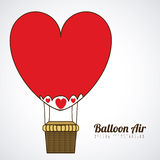 Balloon heart Stock Photo