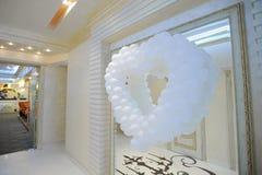 Balloon Heart on Mirror Stock Images