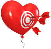 Balloon in heart shape Royalty Free Stock Images