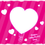 Balloon Heart Valentines Day Greeting Card Stock Image