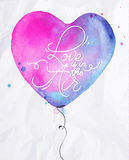 Balloon heart Royalty Free Stock Images