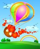 Balloon and hearts Stock Image