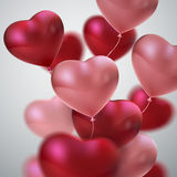 Balloon Hearts. Stock Images