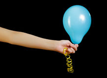 Balloon in his hand Stock Photography