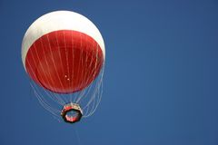 Balloon (horizontal). Balloon with lots of blue sky Royalty Free Stock Photography