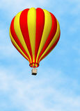 Balloon Hot Air. 3D render of a hot air balloon against a clear blue sky Stock Photography
