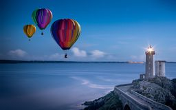 Balloon, Hot Air Balloon Ride Stock Images
