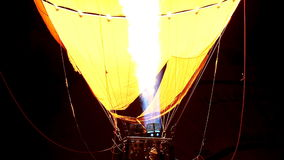 Balloon hot air at night. A balloon hot air at night stock video