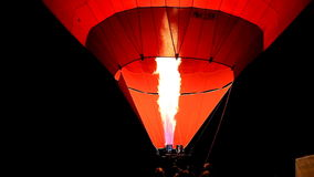Balloon hot air at night. A balloon hot air at night stock video footage