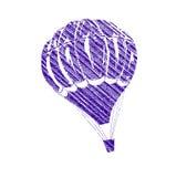 Balloon. Hot balloon icon in a white background Stock Photo