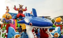 Balloon house and playground Stock Photo
