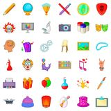 Balloon icons set, cartoon style Royalty Free Stock Photography