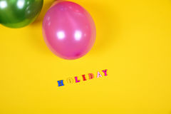 Balloon and inscription holiday Stock Photography