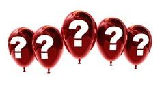 Balloon interrogation mark Stock Photo