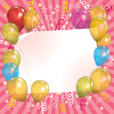 Balloon Invitation Background. A colourful floating balloon invitation background Stock Image