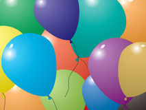 Balloon invite Royalty Free Stock Photo