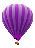 Balloon isolated on white. Hot air striped violet balloon isolated on white background Royalty Free Stock Photography