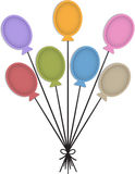 Balloon labels Stock Images