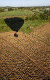 Balloon Landing at Fiji Farm Royalty Free Stock Photo