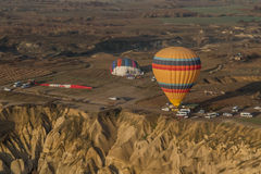 Balloon lands on trailer Stock Images