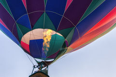Balloon Launch. Hot Air Balloon ascending Stock Photos