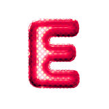 Balloon letter E 3D golden foil realistic alphabet Stock Photo