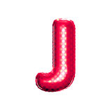 Balloon letter J 3D golden foil realistic alphabet Royalty Free Stock Images