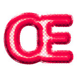 Balloon letter OE ligature 3D golden foil realistic alphabet Stock Photo